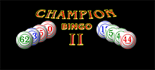 Forget all the video bingo games you have ever played and discover the innovative Champion II, one of the most different and fun games on the internet. You will play video bingo with a much better chance of becoming the big winner since this video bingo has many more numbers than traditional machines and also a much larger ball draw.