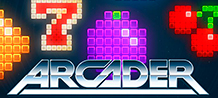 <div>The Arcader slot is a retro-inspired version that can only be described as a mix of traditional fruit game and old-style space invaders.</div>